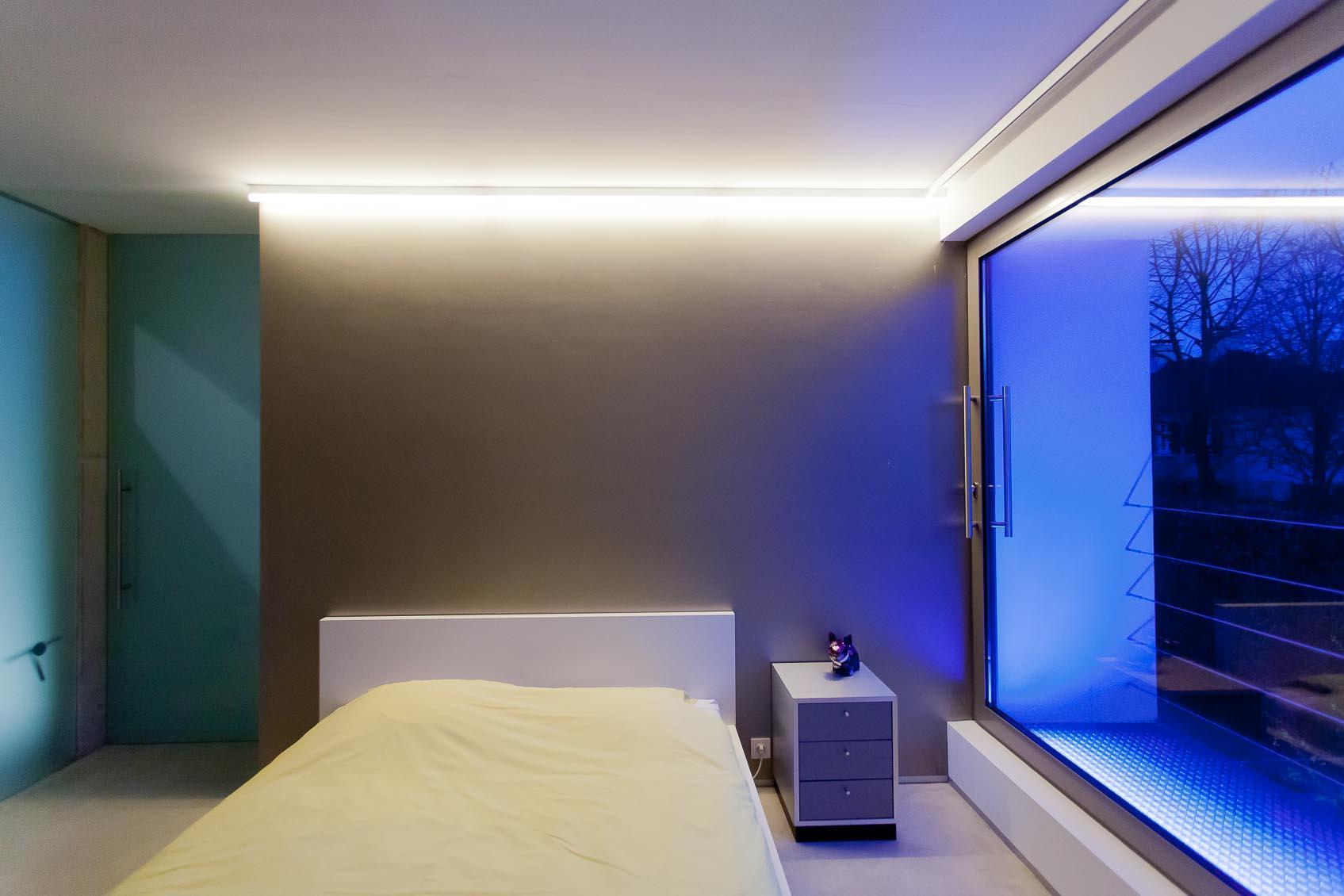 lichtconcept in slaapkamer