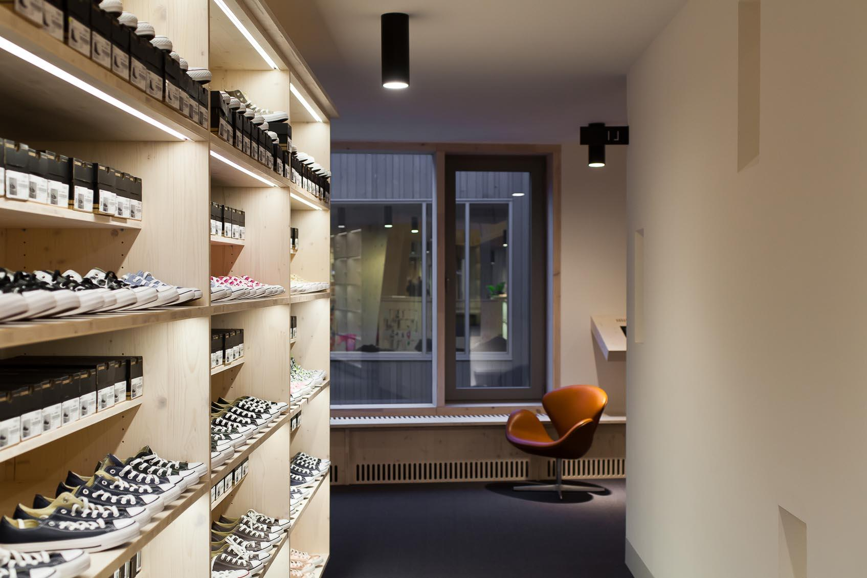 ledstrip in schoenenzaak