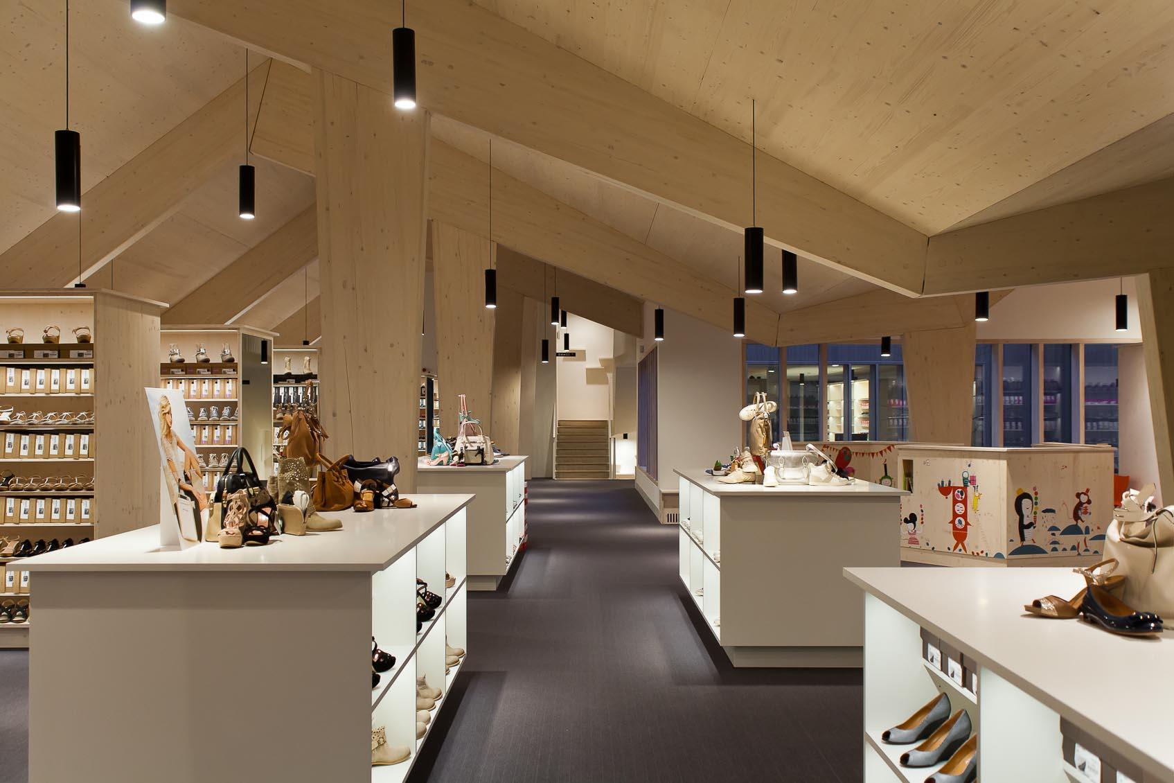 designverlichting schoenenwinkel