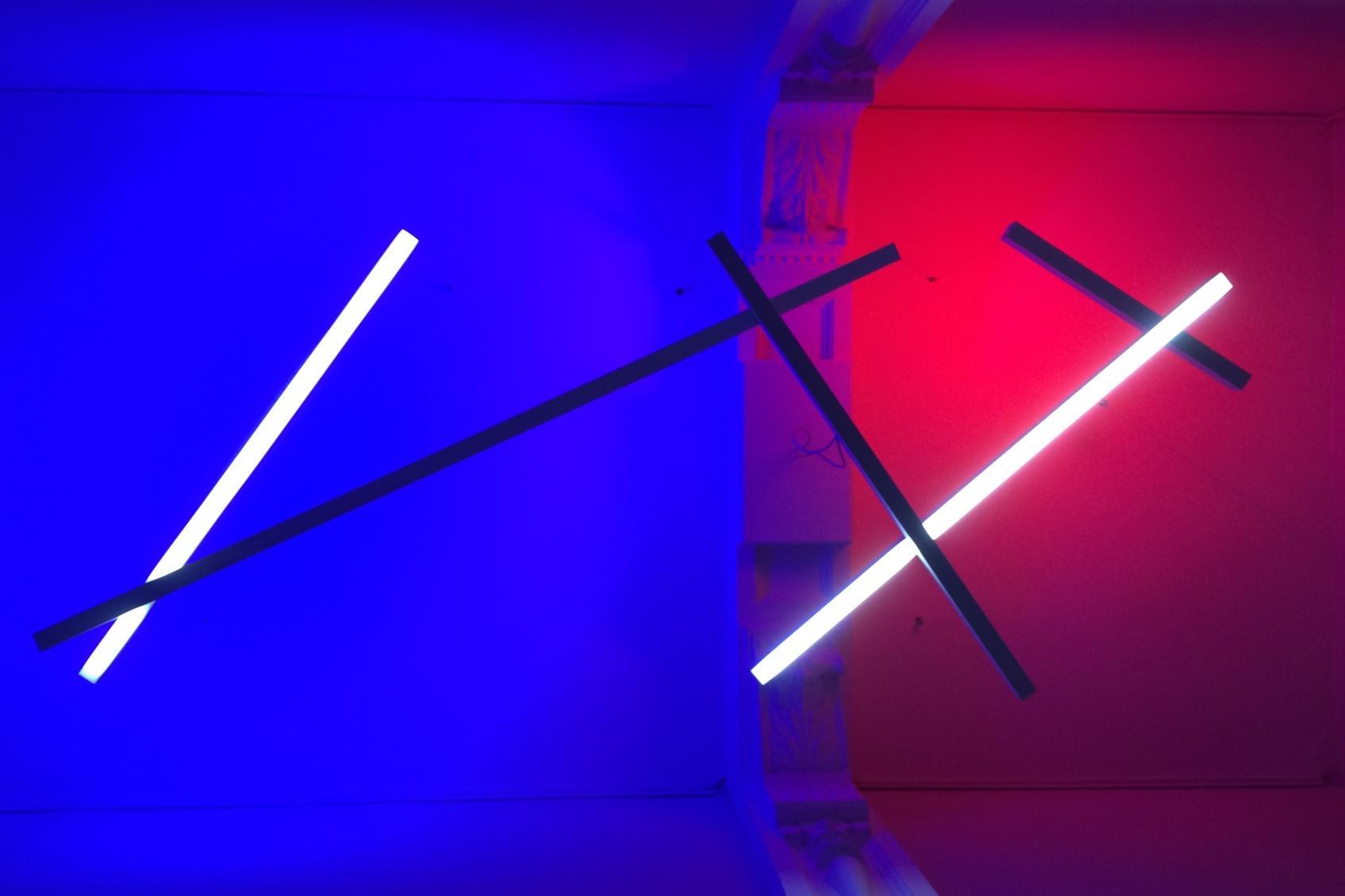 Lichtobject voor tentoonstelling LICHT-KUNST / KUNST-LICHT