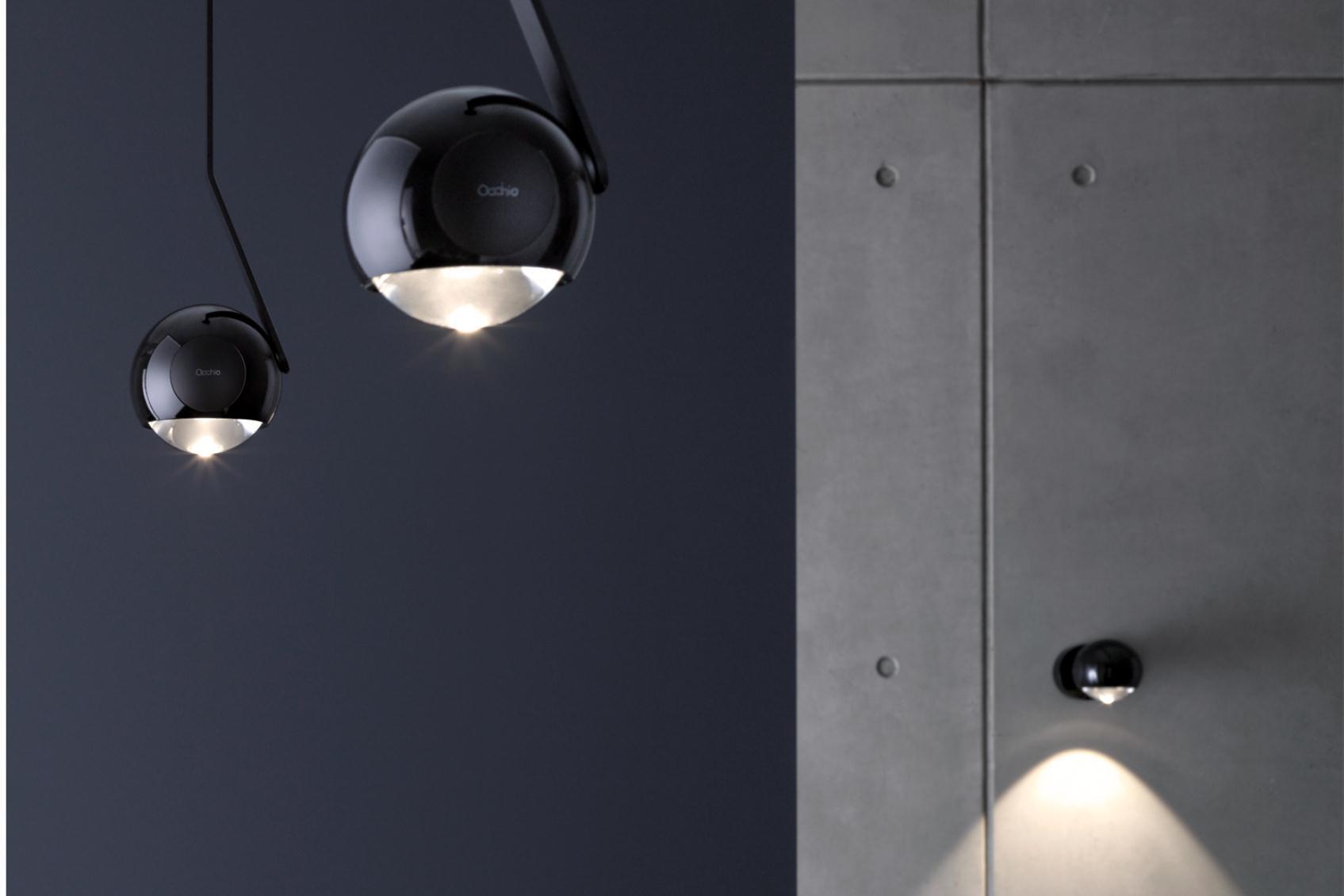design verlichting occhio zowel wandlamp , hanglamp , opbouwspot en tafellamp