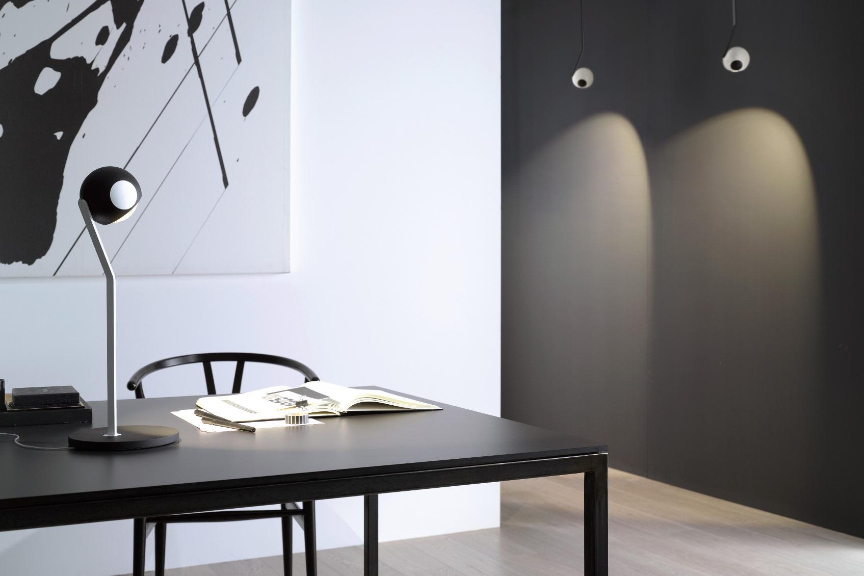occhio design ledverlichting in wit zwart chroom en aluminium