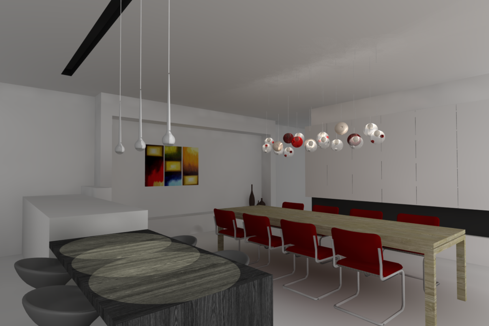Eetkamer verlichting trendy modo molecuul magische bonen for Moderne verlichting eetkamer