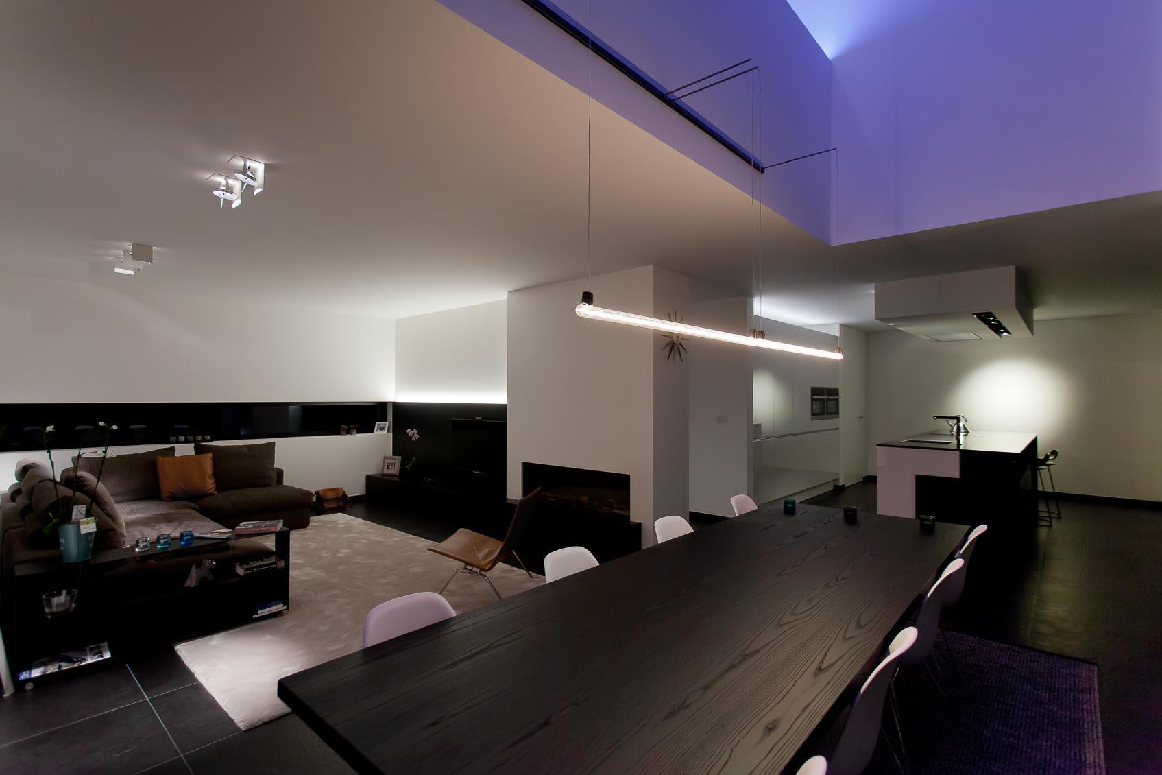 moderne nieuwbouwwoning een lichtplan op maat. Black Bedroom Furniture Sets. Home Design Ideas