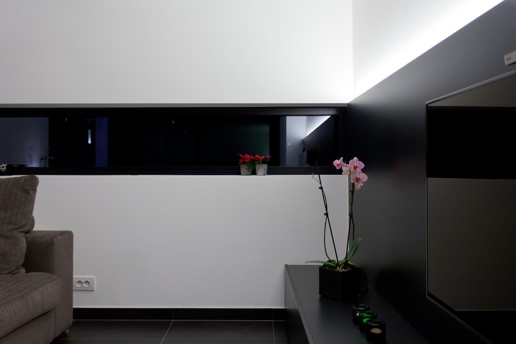 sterk staaltje lichtarchitectuur, uitlijning architectuur en licht, samenwerking architect, interieurarchitect en lichtarchitect lichthuis